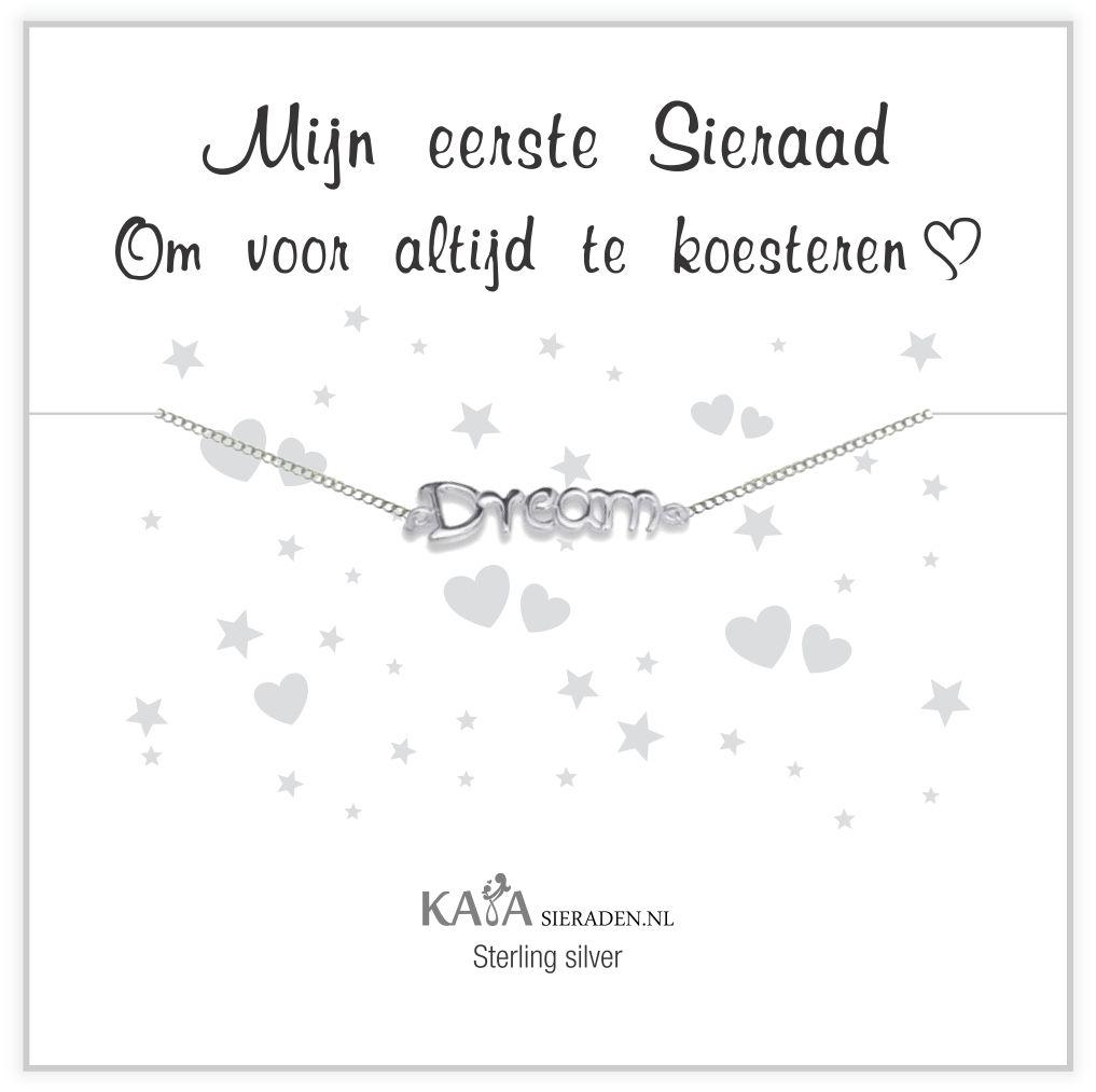 """Silver baby bracelet """"follow your dreams"""" - Copy - Copy"""