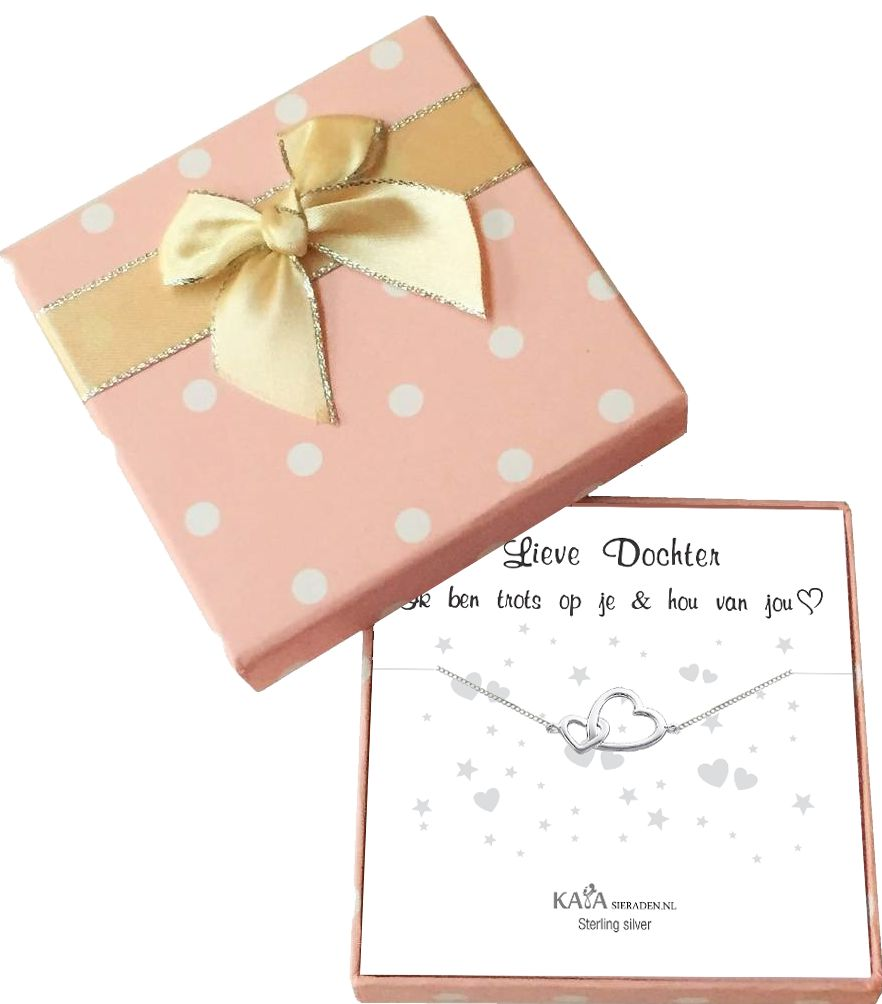 Gift Box Silver bracelet 'Dear Daughter, I love you & I am proud of you'