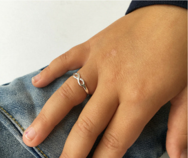 Silver ring kids 'Infinity'