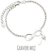 KAYA sieraden Infinity Bracelet silver 'forever' with Pearl