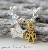 Zilveren Geloofsarmband 'Golden Angel'