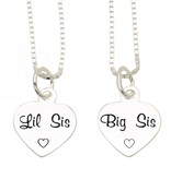 KAYA sieraden Silver chains 'Lil Sis, Big Sis'