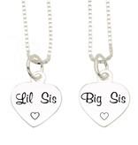 KAYA sieraden Zilveren set 'Lil Sis, Big Sis'
