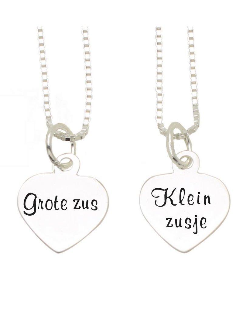 KAYA sieraden Silver chains 'Big Sister, Little sister'