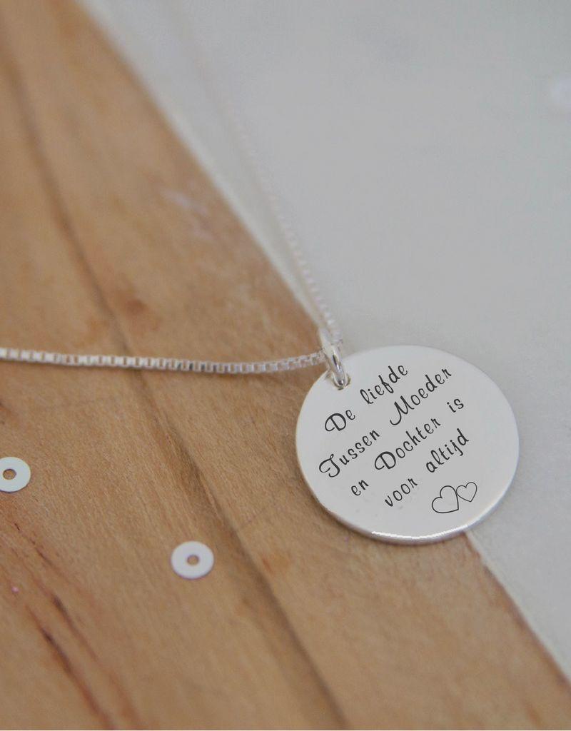 KAYA sieraden Zilveren Ketting 'De Liefde tussen Moeder & Dochter ..'