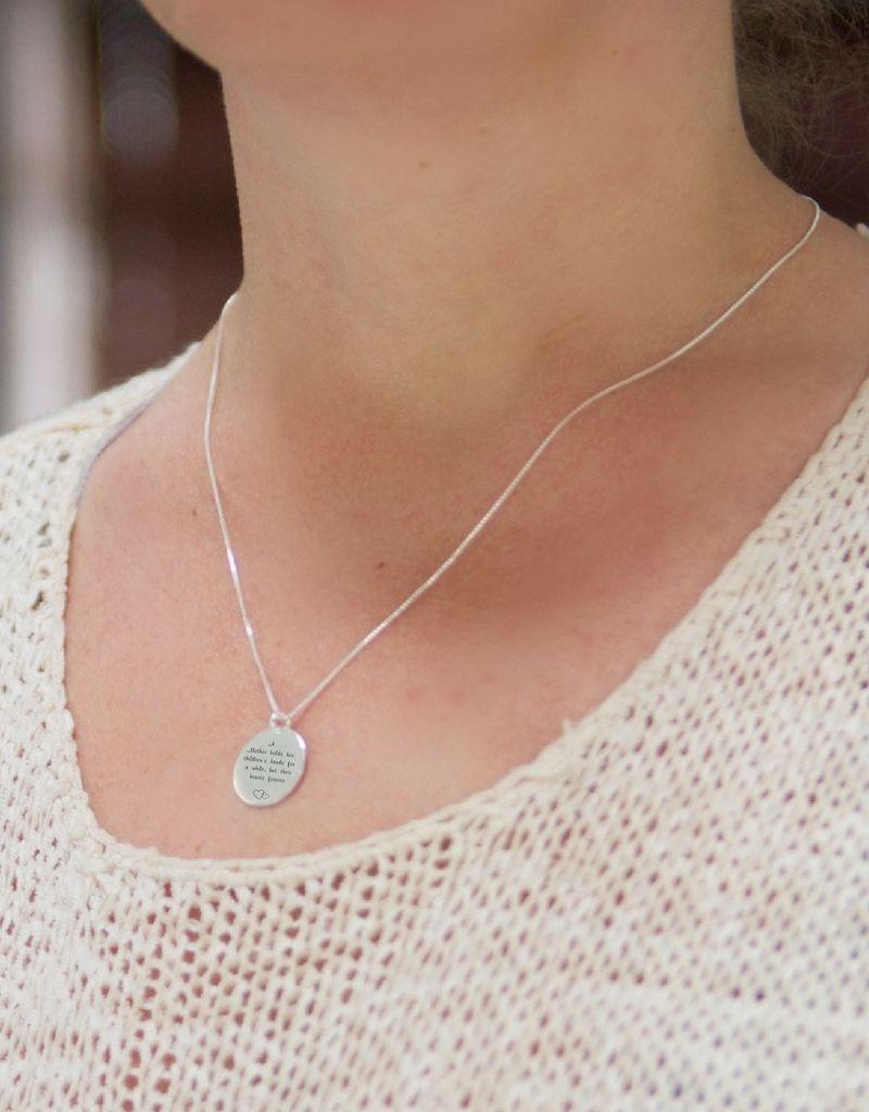 "KAYA sieraden Silver Necklace ""The Love Between Mother & Daughter .. '- Copy"