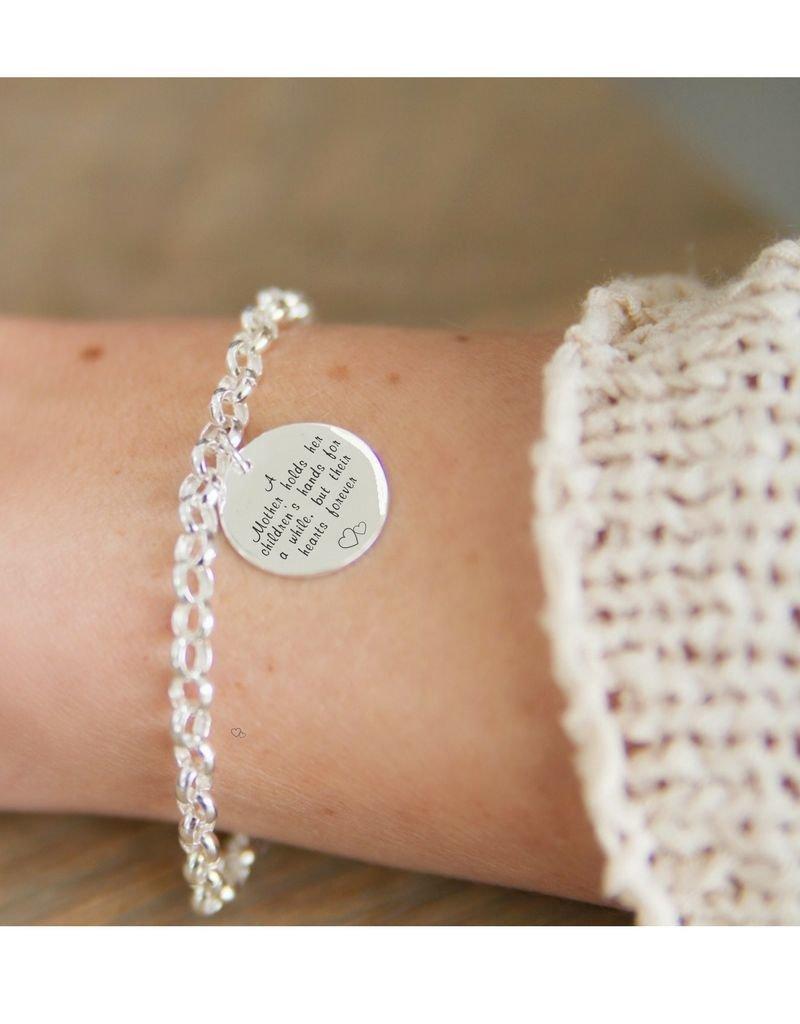 Zilveren Jasseron armband met Munt (17 mm)