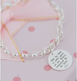 KAYA sieraden Silver Chain Bracelet with Coin (17 mm) - Copy - Copy
