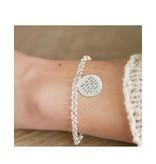 KAYA sieraden Zilveren Jasseron 'Munt' zusjesliefde