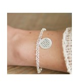 Silver Chain Bracelet with Coin (17 mm) - Copy - Copy