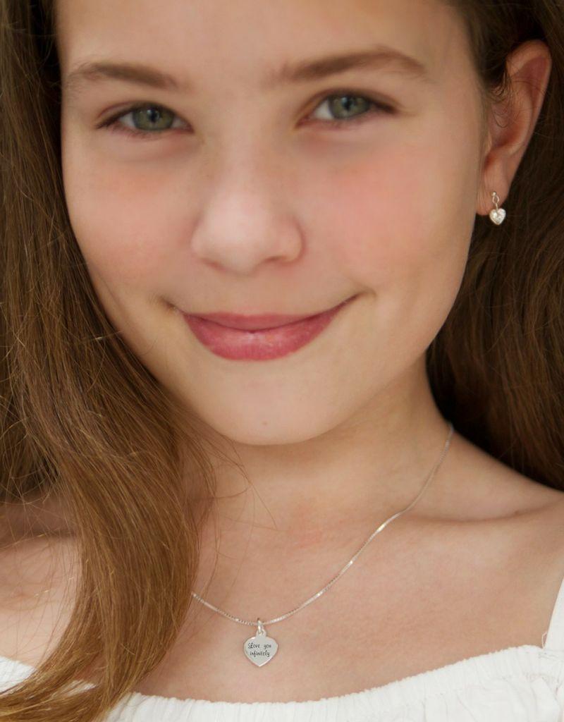 KAYA sieraden Zilveren ketting 'Kies je Tekst'