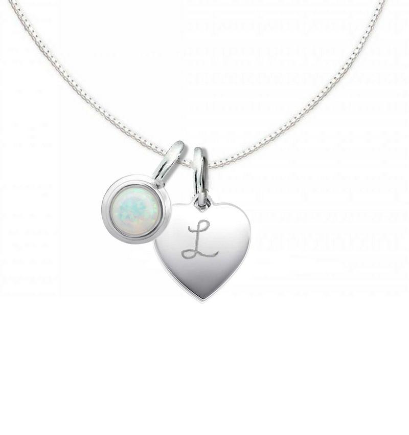 KAYA sieraden Silver Necklace 'Cutie' Opal 10x12mm