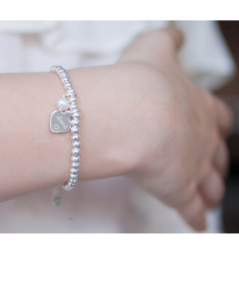 """KAYA sieraden 3 Silver Bracelets """"Ask yourself together '"""