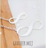 Zilveren Mom & Me kettingenset 'Infinity'