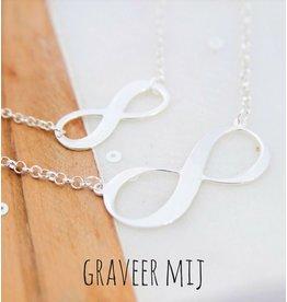KAYA sieraden Moeder-dochter kettingen 'Infinity' met gravering
