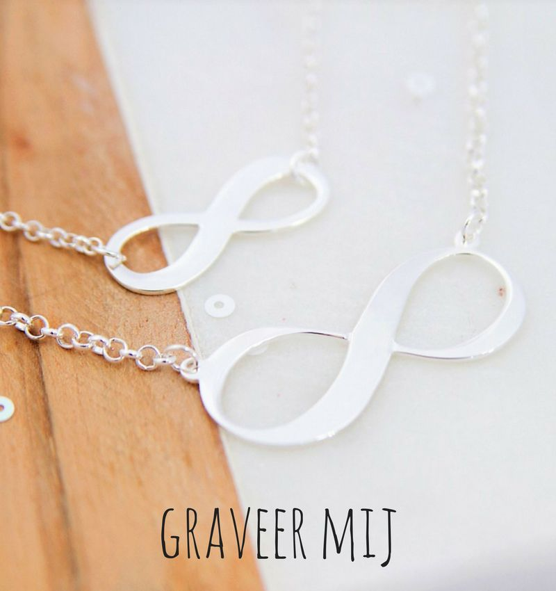 Two chains 'Infinity' with engraving