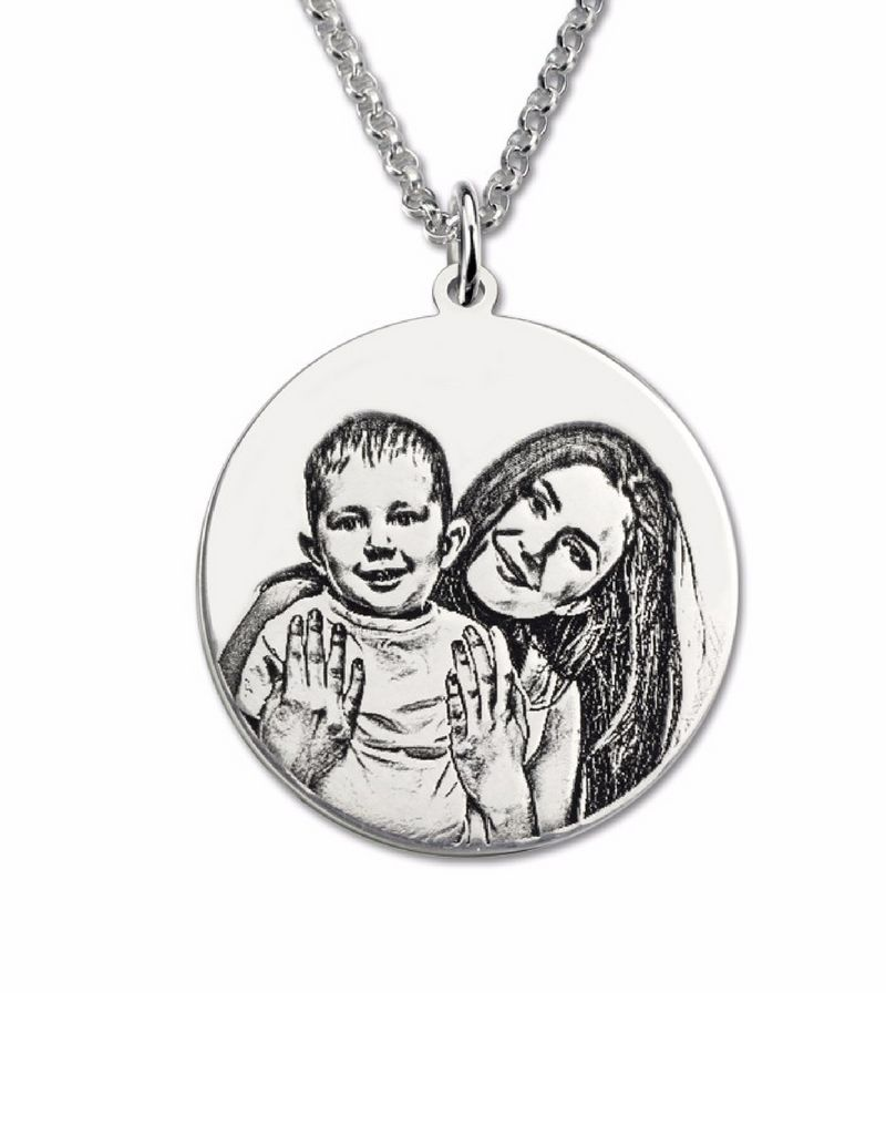 Necklace with photos square '