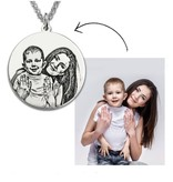 KAYA sieraden Zilveren ketting met foto 'circle'