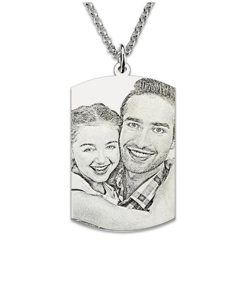 KAYA sieraden Zilveren ketting met foto