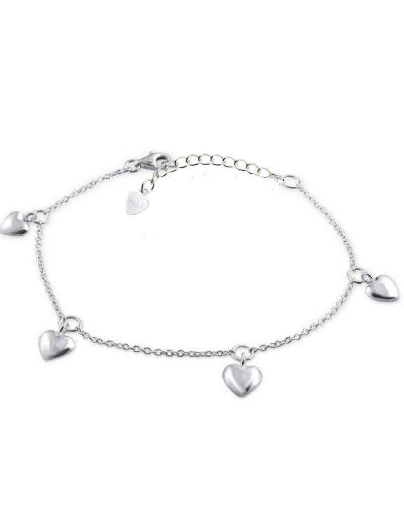 KAYA sieraden Silver baby bracelet 'hearts'