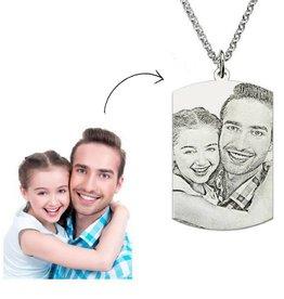 Zilveren ketting met foto