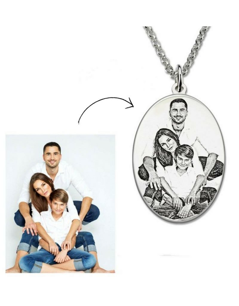 KAYA sieraden Necklace with pictures oval '