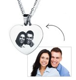 KAYA sieraden Necklace with photo 'heart' - stainless steel