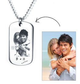 KAYA sieraden Necklace with photo - stainless steel