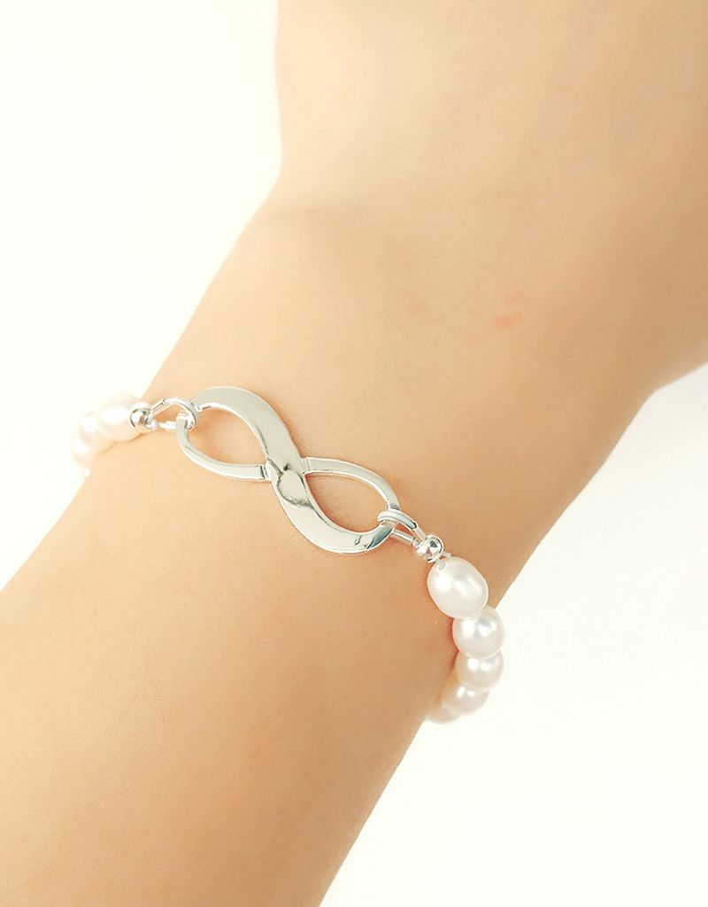 KAYA sieraden Infinity Bracelet silver 'forever' with Pearl - Copy