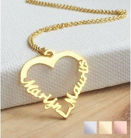 KAYA sieraden Zilveren hartvormige ketting