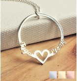 Necklace with 2 names 'circle'