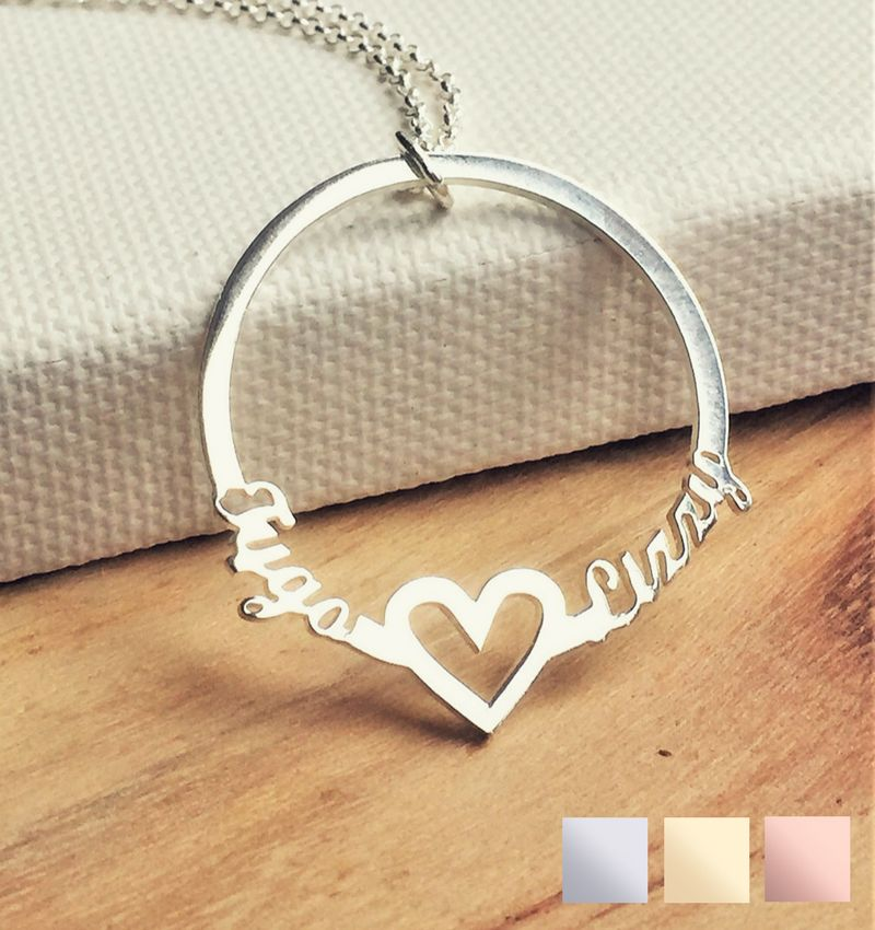 KAYA sieraden Necklace with 2 names 'circle'