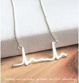 KAYA sieraden Ketting met eigen handschrift - zilver