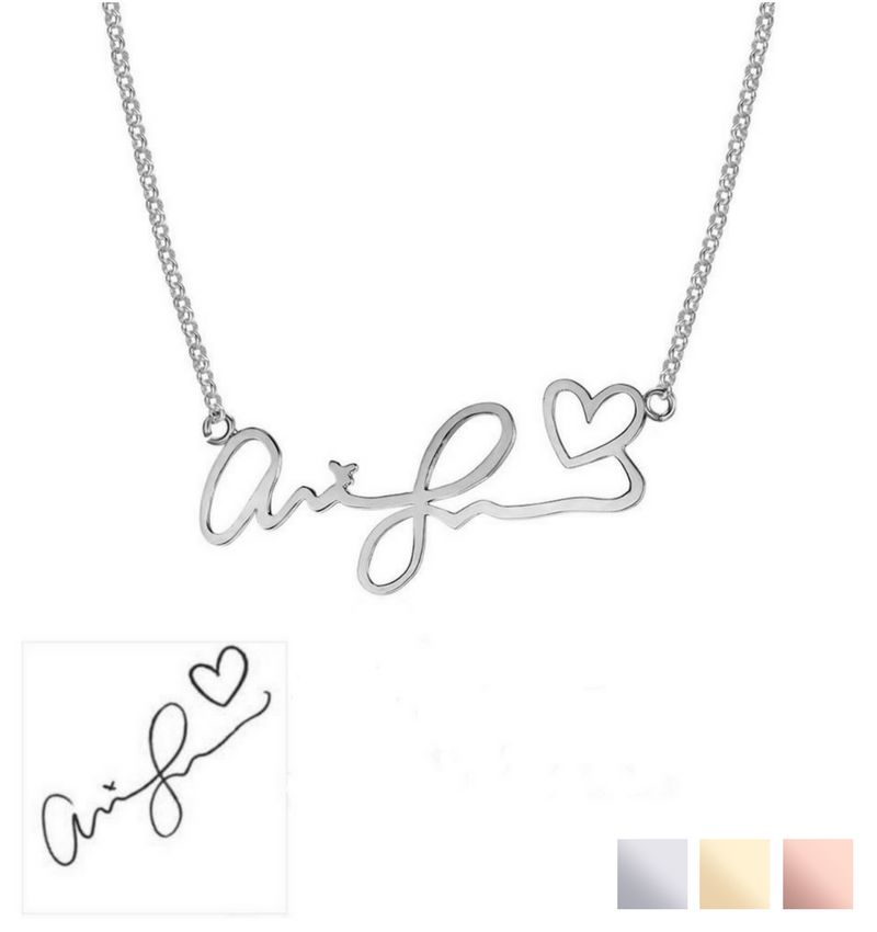 KAYA sieraden Necklace with own handwriting - silver