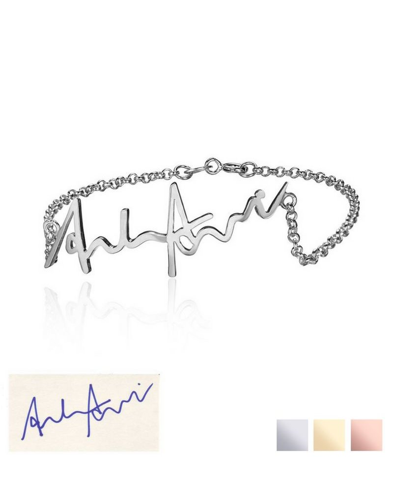 Bracelet with own handwriting