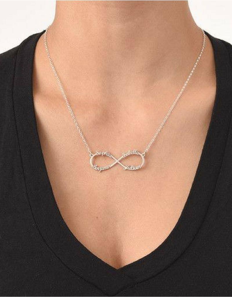 Infinity ketting  '4 namen'