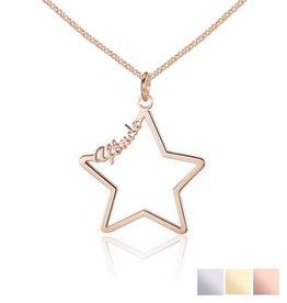 KAYA sieraden Ketting met 1 naam 'star'