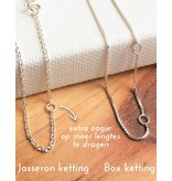 Zilveren ketting'you hold my heart'