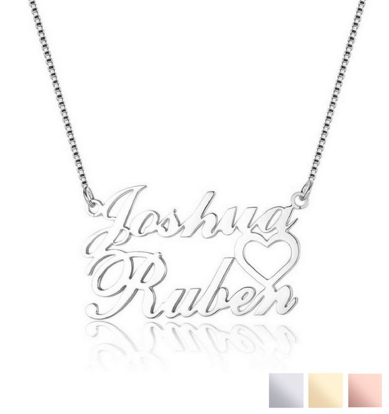 Personalized necklace '2 names'