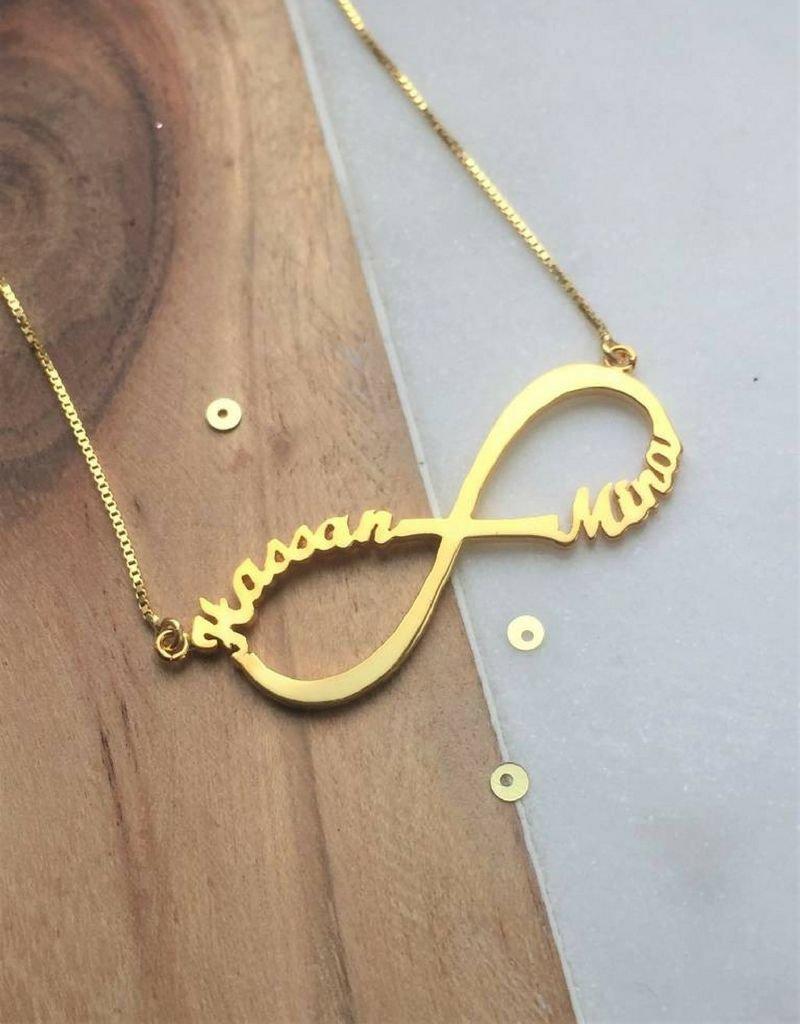 KAYA sieraden Zilveren Infinity ketting 'Close to my Heart'