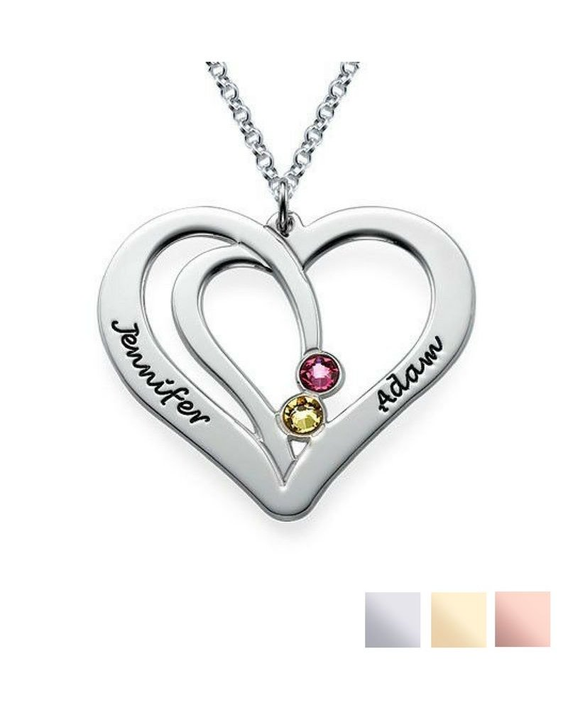 KAYA sieraden Birthstone necklace 'Intertwined'