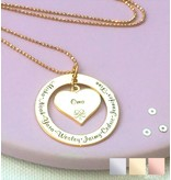 KAYA sieraden Family chain 'Grandma & Grandchildren'