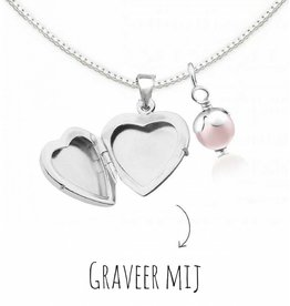 Medaillon ketting met gravure 'Little Secret'