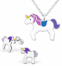 Set 'Unicorn' paars/blauw