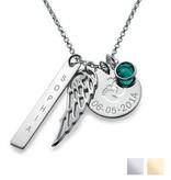 KAYA sieraden Zilveren geboorteketting 'Angel Wings'
