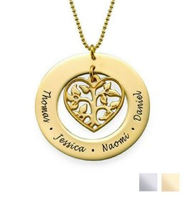 KAYA sieraden Necklace with names 'Family Pedigree'