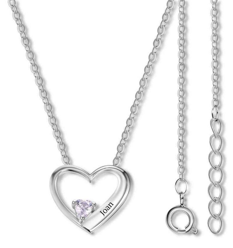 KAYA sieraden Heart chain with birthstone 'love'