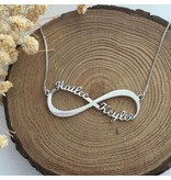 Zilveren Infinity ketting 'Close to my Heart'