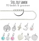 """Silver Necklace """"Imagine yourself together '- with graveerbedel option"""