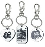 Keychain with photo and text